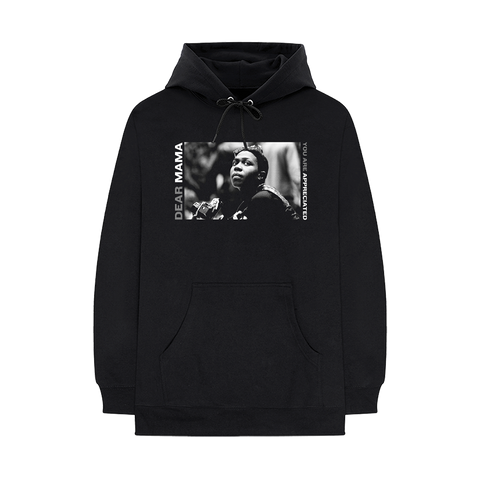 Dear Mama Black Pullover Hoodie