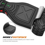 ALL TERRAIN HUMMER HOVERBOARD STEERING WHEEL HOVERKART BUNDLE - Black - ihoverkart