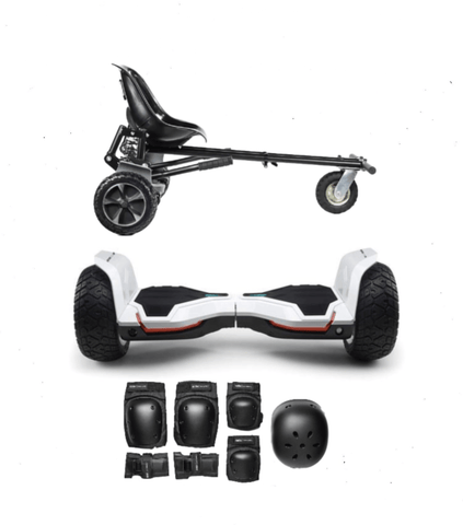 ALL TERRAIN WARRIOR HOVERBOARD OFF ROAD HOVERKART BUNDLE - White - ihoverkart