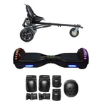 2018 Black Friday App Enabled Bluetooth Hoverboard + Hoverkart Bundle - Black - ihoverkart