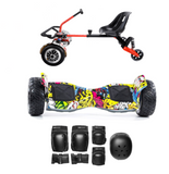 ALL TERRAIN HUMMER HOVERBOARD STEERING WHEEL HOVERKART BUNDLE - Yellow - ihoverkart