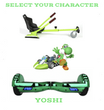 2019 SUPER MARIO YOSHI -  6.5 green classic Swegway Hoverboard + Green  Hoverkart Bundle Deal