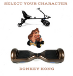 2019 SUPER MARIO DONKEY KONG  -  6.5 Brown classic Swegway Hoverboard + Black  Hoverkart Bundle Deal