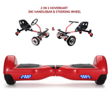 UNLEASH THE RACER IN YOU!! -- Racer Steering Wheel Hoverkart + Hoverboard Bundle - Red