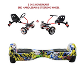 UNLEASH THE RACER IN YOU!! -- Racer Steering Wheel Hoverkart + Hoverboard Bundle - Comic