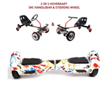 UNLEASH THE RACER IN YOU!! -- Racer Steering Wheel Hoverkart + Hoverboard Bundle - Graffiti