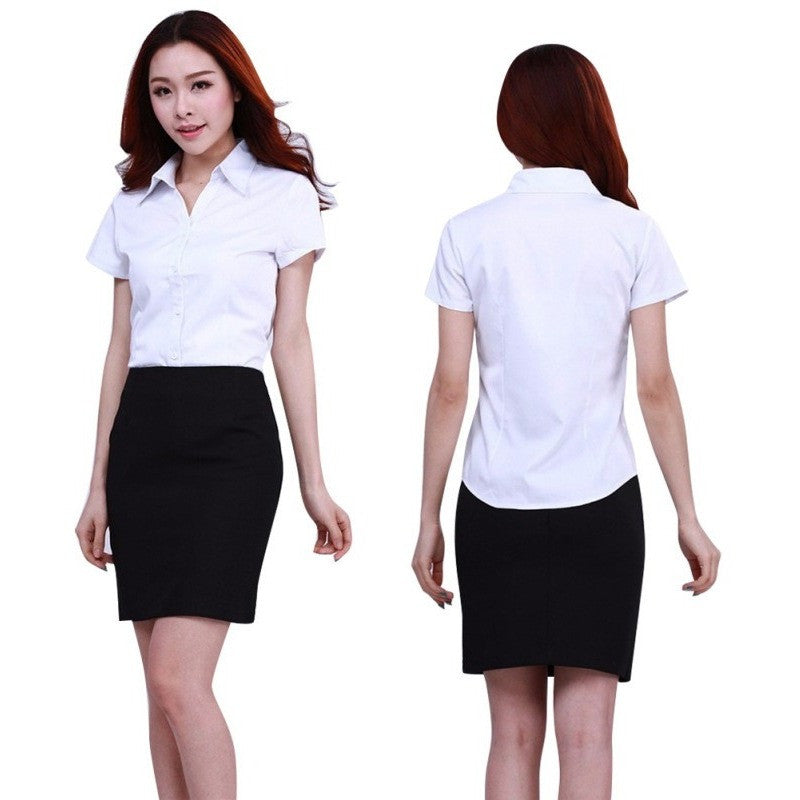 Fashion White Shirt Women Office Wear Long Sleeve Tops - Kind Unity
