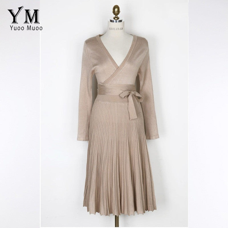 Women Casual Long Sleeve Knitted Dresses - Kind Unity
