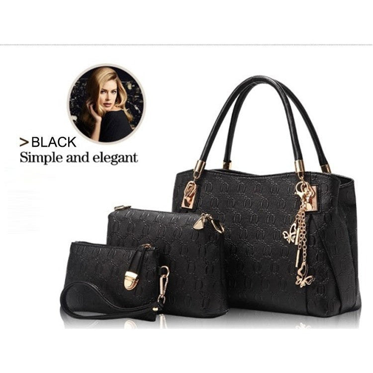 Women Handbags Leather Messenger Bags 3pc Sets Accessories - Kind Unity