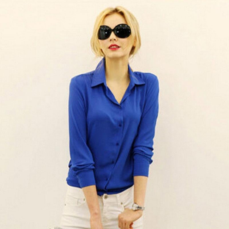 Women Blouses Tops  Long-sleeve  Chiffon Slim - Kind Unity