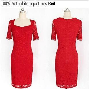 Vintage Lace Bodycon Party Dresses - Kind Unity