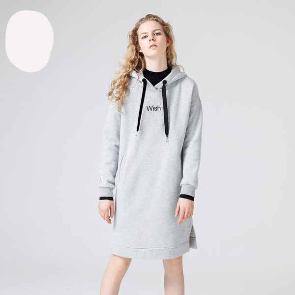 Autumn Winter Dresses Casual Loose Long Hoodies Dresses