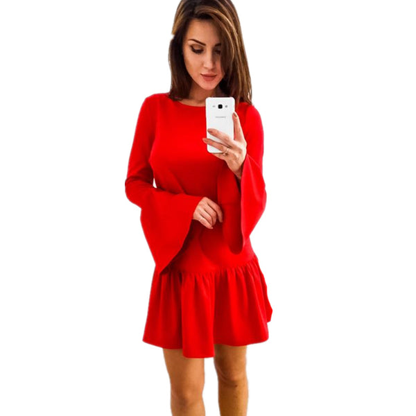 Casual Mini Dress Autumn Winter Cocktail Party Dresses