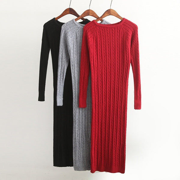 Bodycon Dresses Elastic Skinny Split Dress Brief Knitted Dresses - Kind Unity