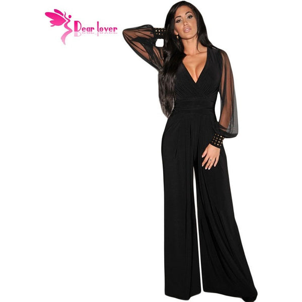 Womens Jumpsuits  Party V-neck Embellished Cuffs - Kind Unity