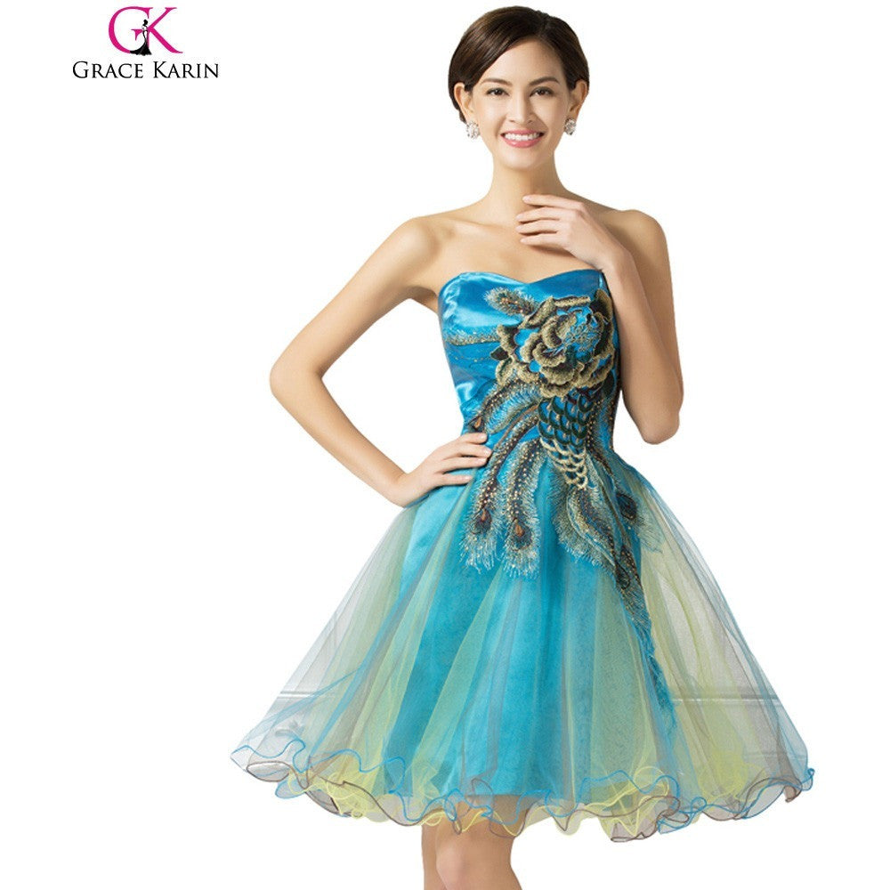 Buy Peacock Party Dresses Strapless at Kind Unity for only £47.25