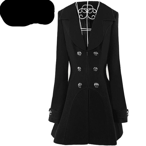 Black Women Coats Long Sleeves / Coats and Jackets - Kind Unity