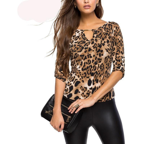 Lady Leopard Print Blouses Tops - Kind Unity