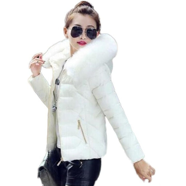 Women Winter Coats Faux Fur Collar Hood - Kind Unity