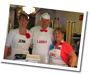 Jenn, Larry & Gail at JENN & Larry's Brittle'n Shakes
