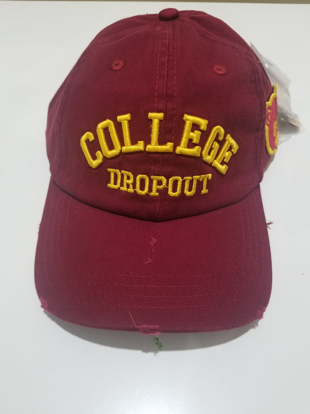 College Drop Out Dad Hat Maroon (DHCOLMRN) - cosign1975