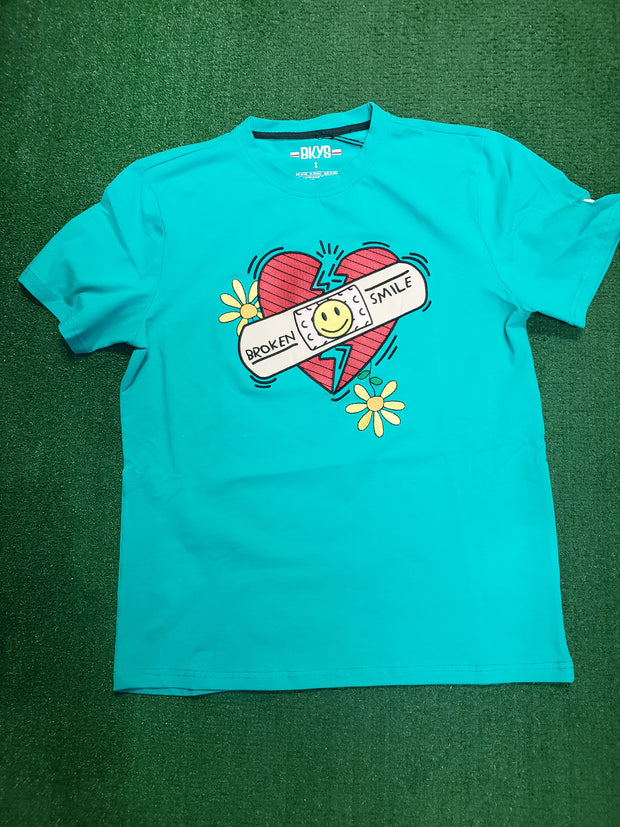 BKYS - BROKEN SMILE TEE - MINT - T174