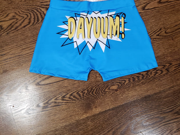 FEMALE SNACK SHORTS - DAYUUM CARTON - BLUE