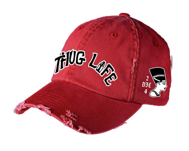 Thug Life Vintage Hip Hop Hat Red (DHTLRED) - cosign1975