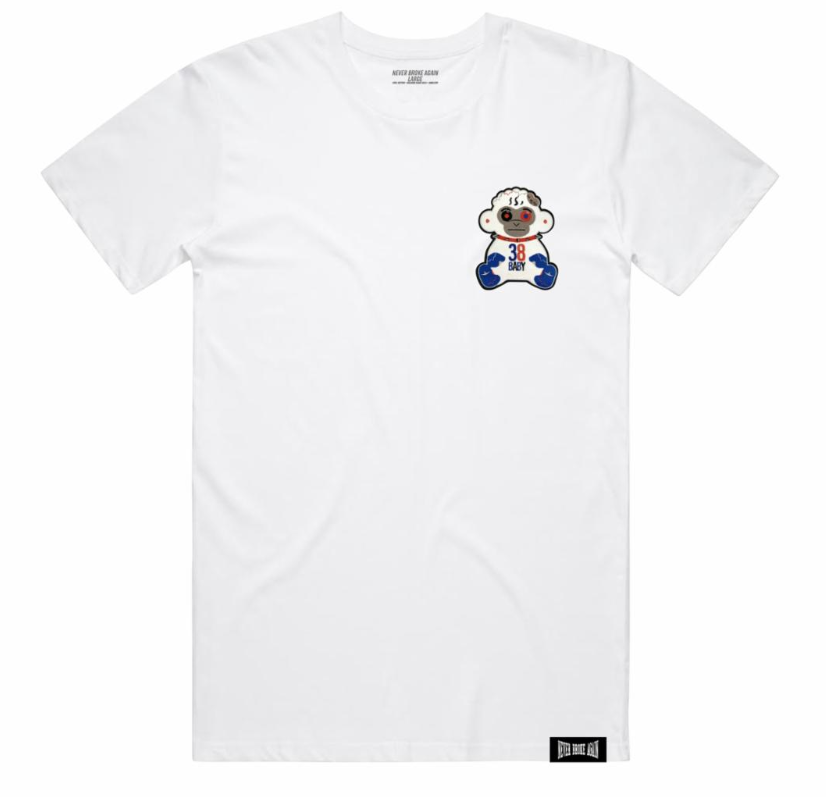 Never Broke Again - MONKEY MINI PATCH TSHIRT (MONKEYMINIPATCHTEEWHT) - cosign1975