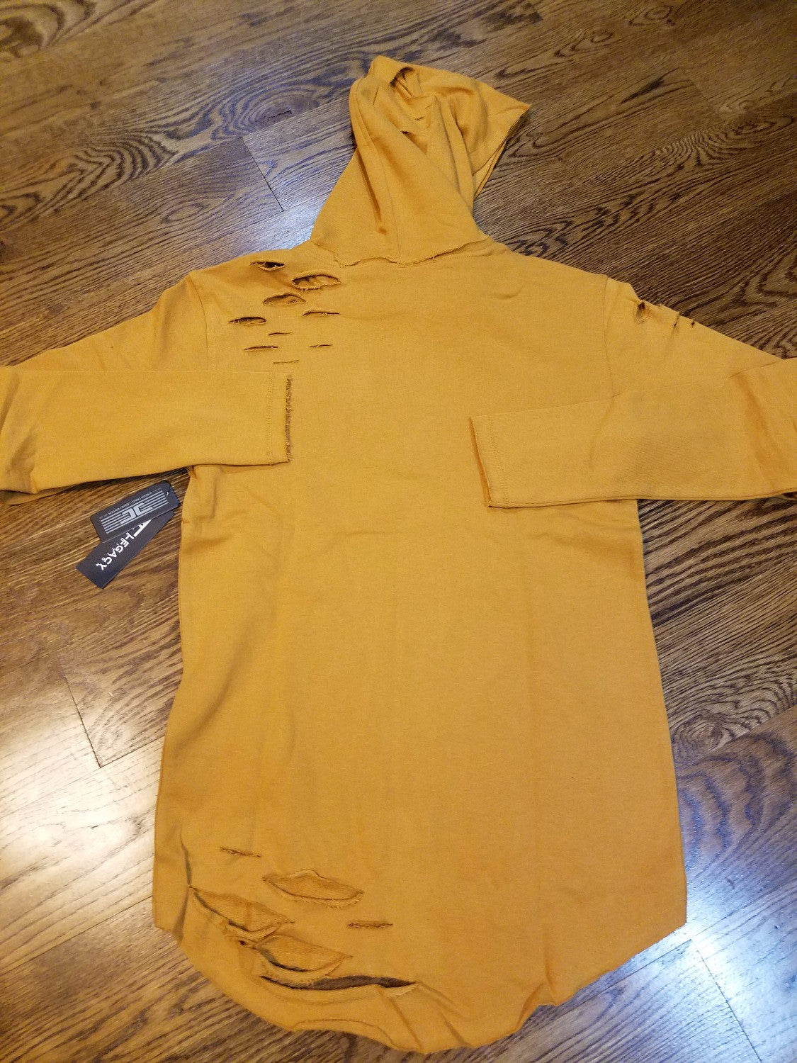 WHEAT LS RIPPED HOODY 8264H - cosign1975