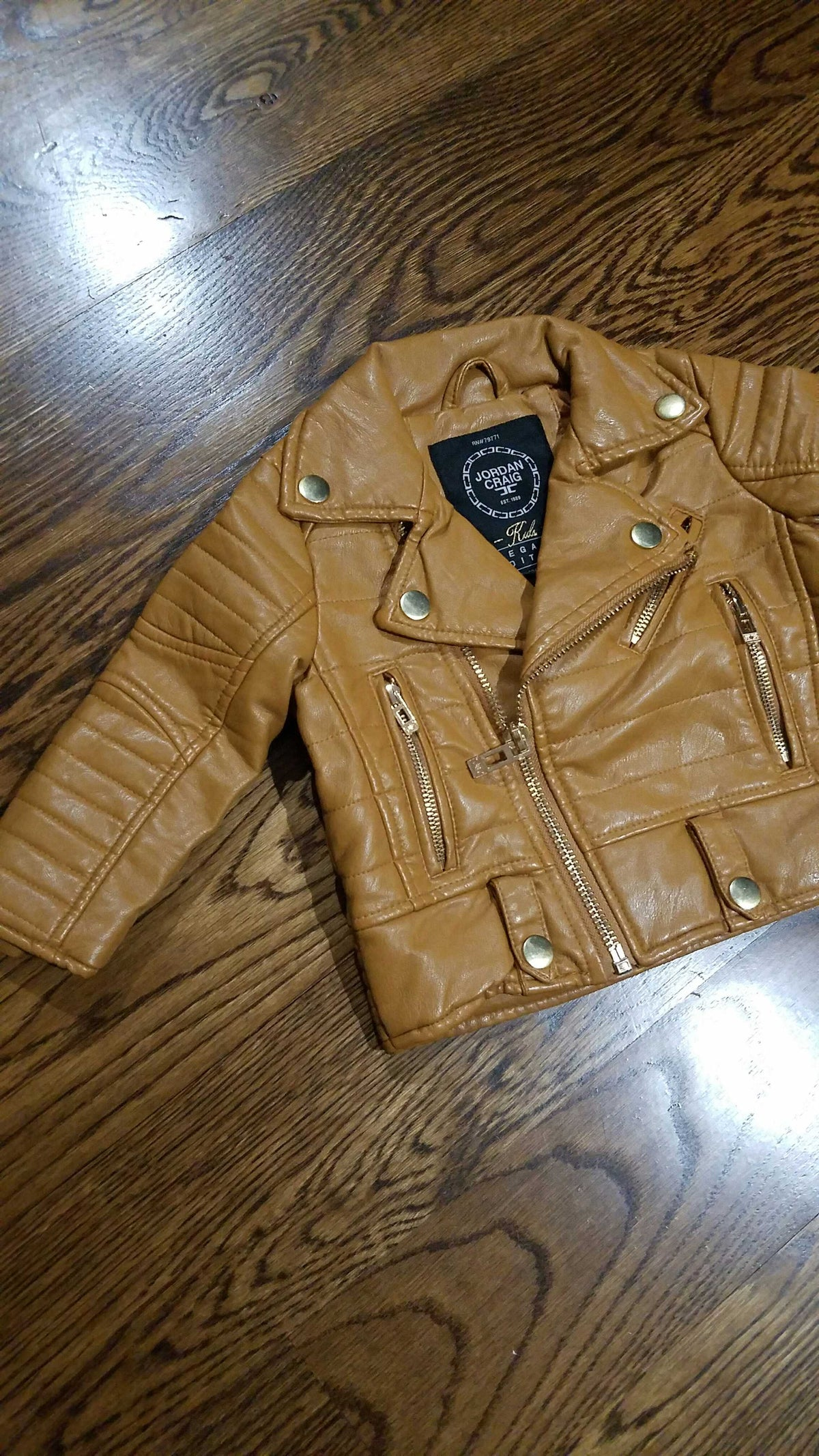 KIDS BIKER JACKET 91243K WHEAT - cosign1975