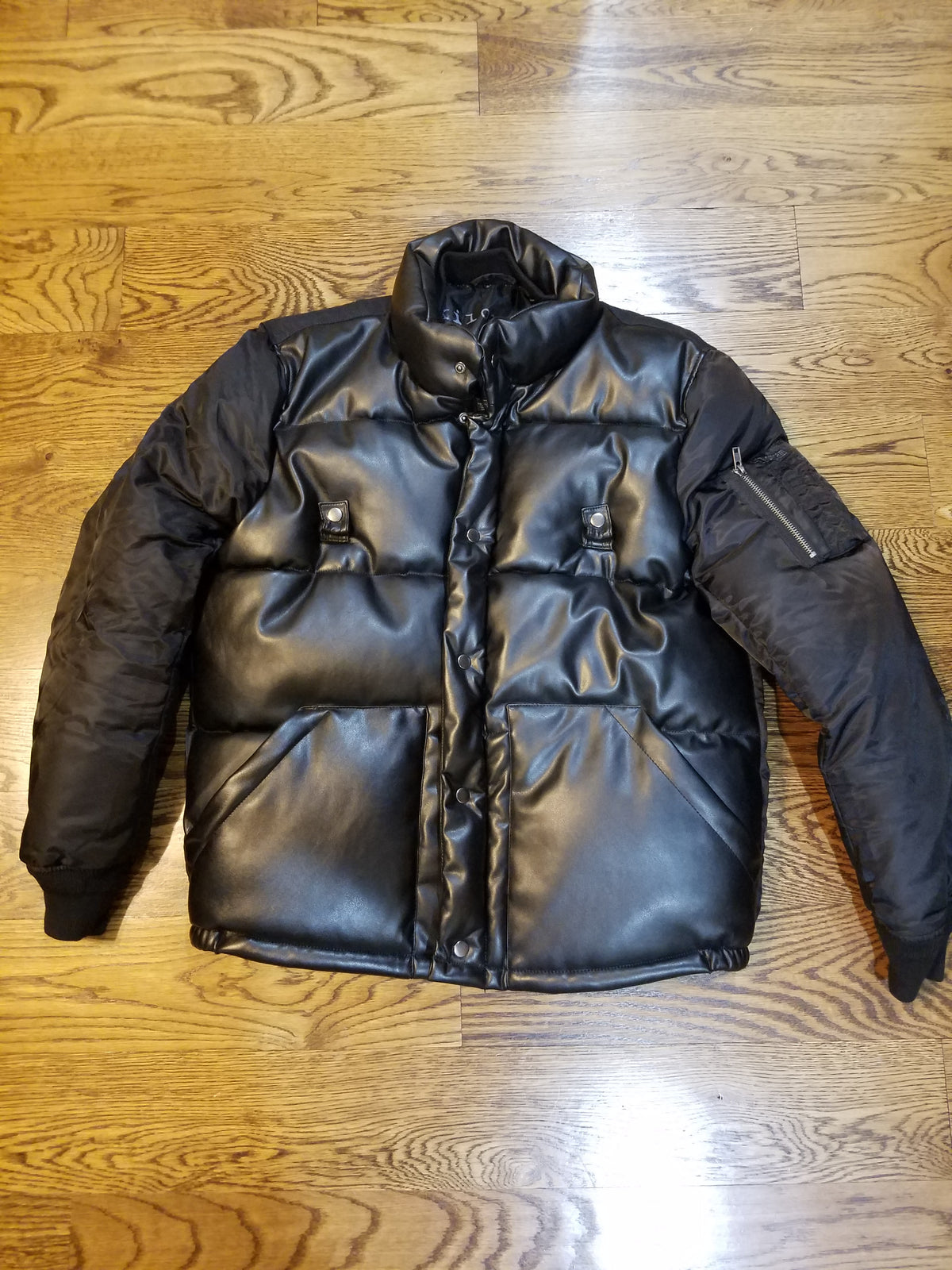 BOMBER PU LEATHER BLACK - cosign1975