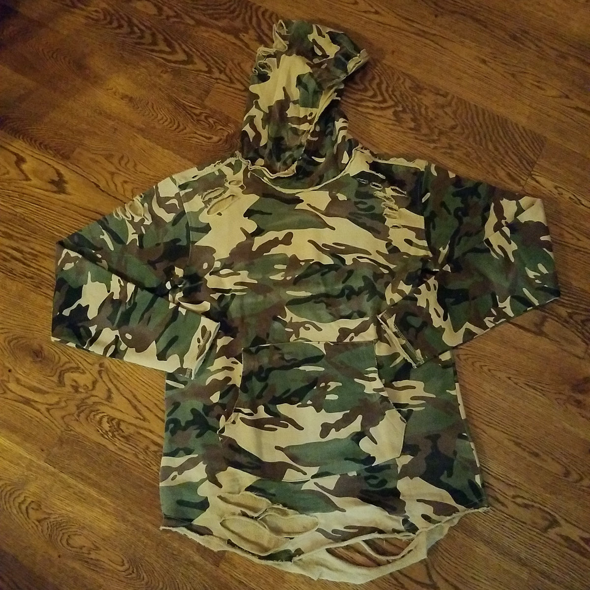 CAMO LS RIPPED HOODY 8264 - cosign1975
