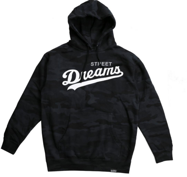 STREET DREAMS - Major League Camo Hoodie (ML0622) - BLACK