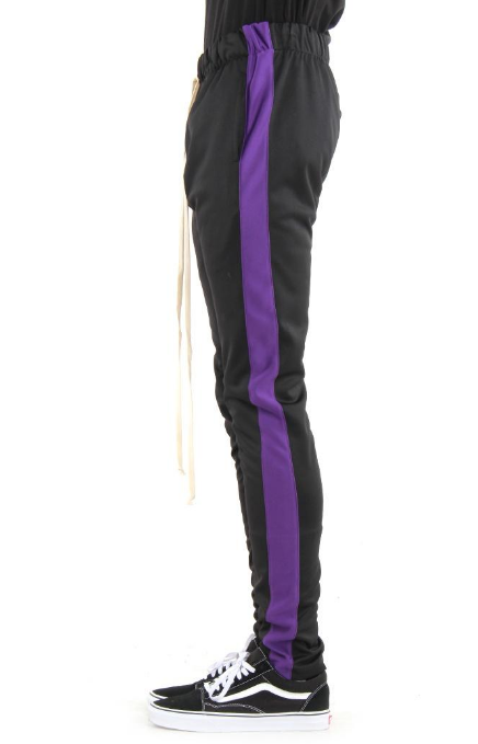 EPTM - BLACK/PURPLE -TRACK PANTS (EP8449)