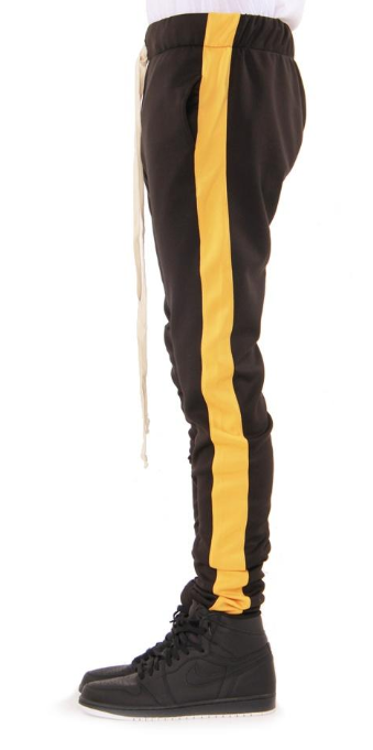 EPTM - TRACK PANTS (EP7908) - BLACK/YELLOW