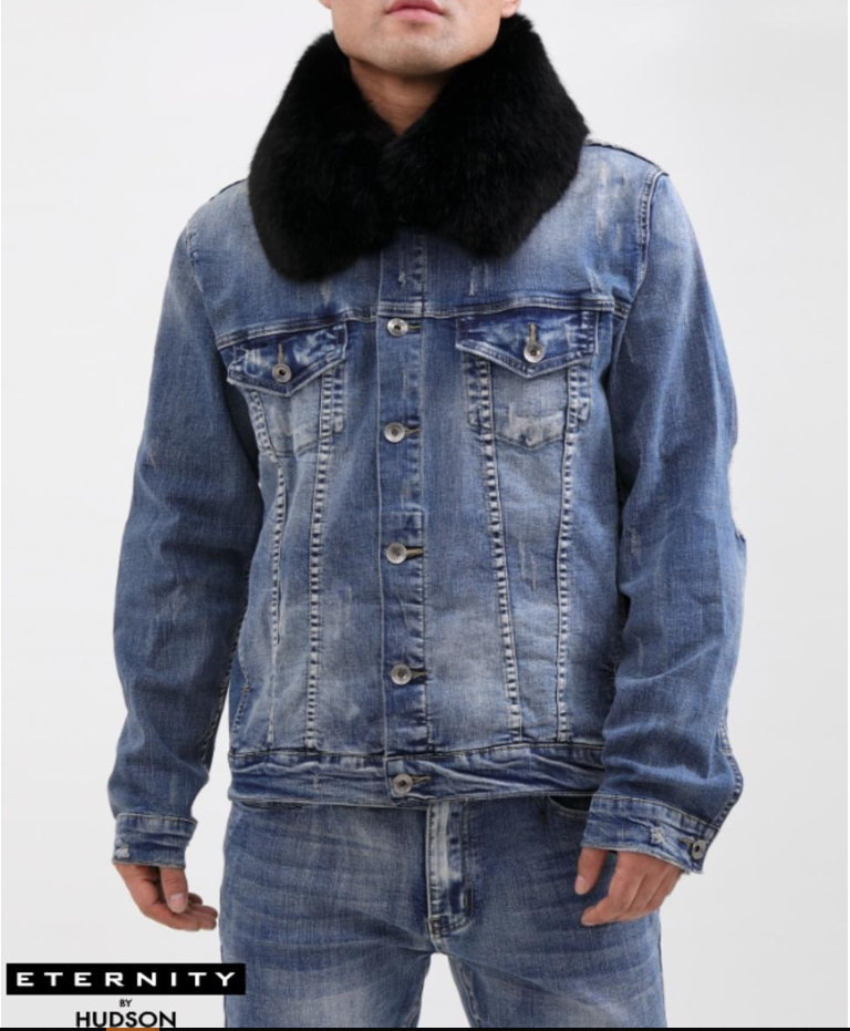 HUDSON / ETERNITY - Rocky Jean Jacket (E6130387) - BLUE