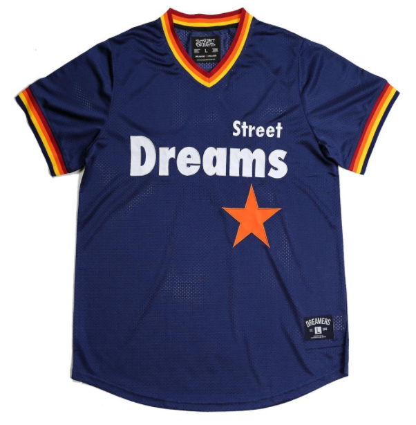 STREET DREAMS - Triple Play V Jersey (TP0752NVY) - NAVY BLUE