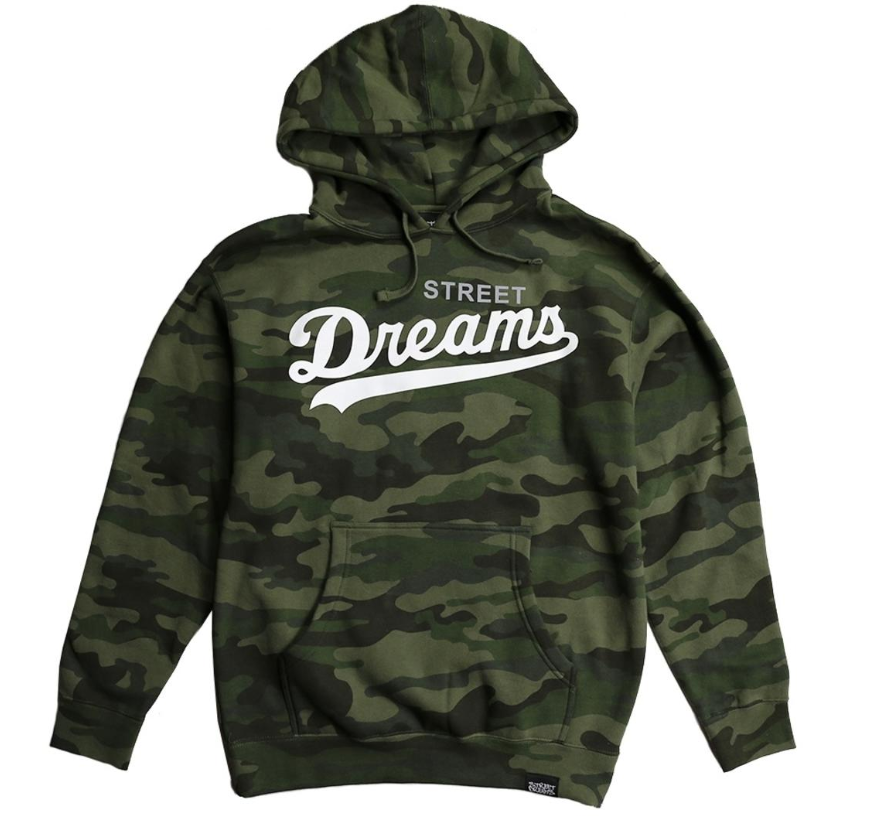 STREET DREAMS -Major League Hoodie (ML0779CM) - CAMO - cosign1975