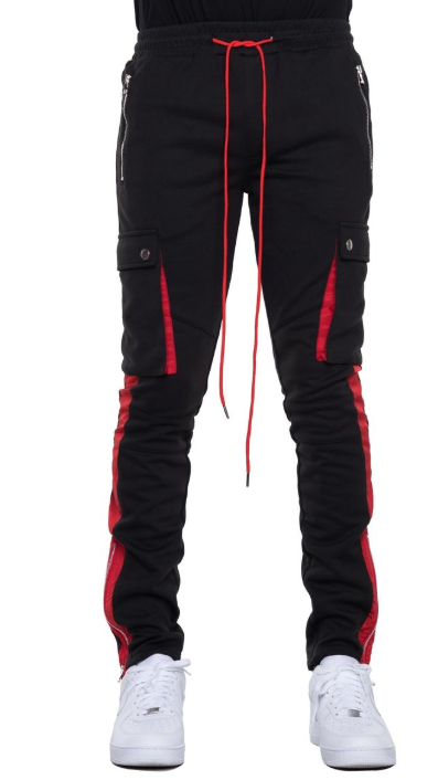 EPTM - BIKER CARGO PANTS (EP9351) - BLACK/RED