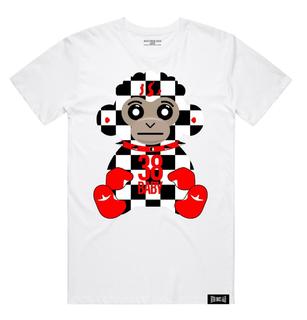 NBA - 38 BABY CHECKERS TSHIRT (38BABYCHECKERSTEEWHT) - cosign1975