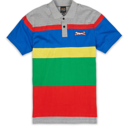 LE TIGRE - Colorblock Stripe Polo (LT-655)
