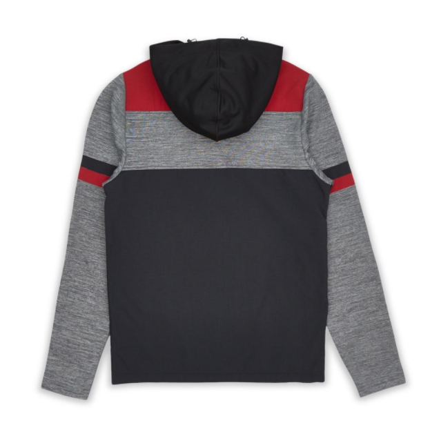 LE TIGRE - Darcy Hoodie (LT-323) - GREY/BLUR/RED