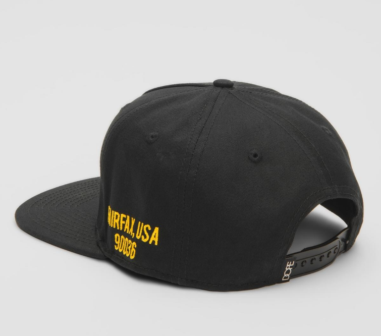 DOPE - Quality Dope Snapback (D19SS-H077) -BLACK