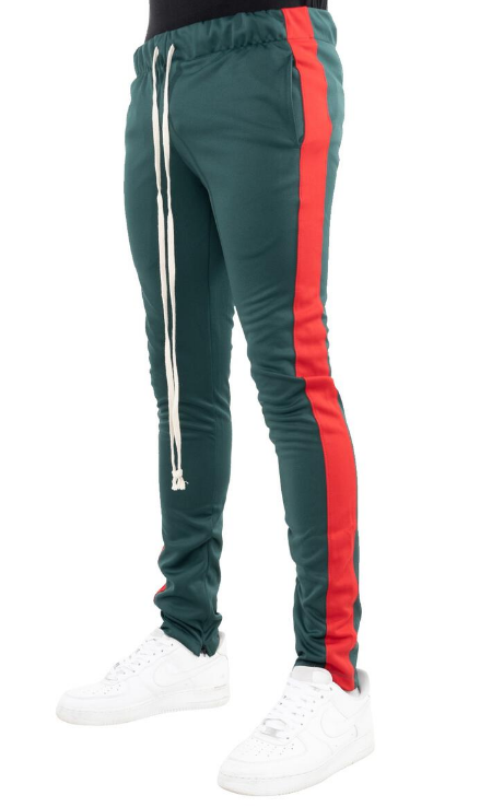 EPTM - TRACK PANTS (EP7727) - GREEN/RED