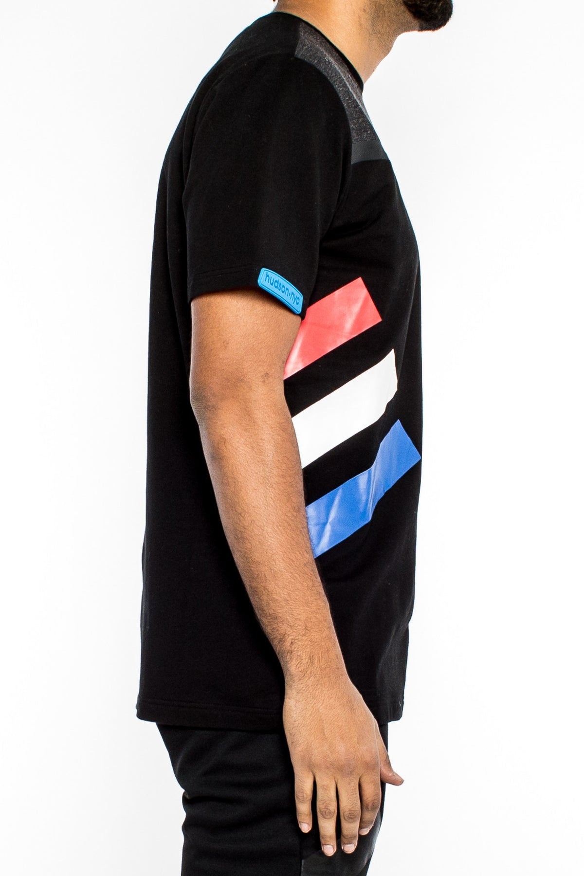 Multi Color Striped Tee (H1051451) BLACK - cosign1975