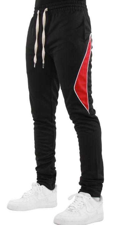 EPTM - HALF PIPING TRACK PANTS (EP9608) -BLK/RED