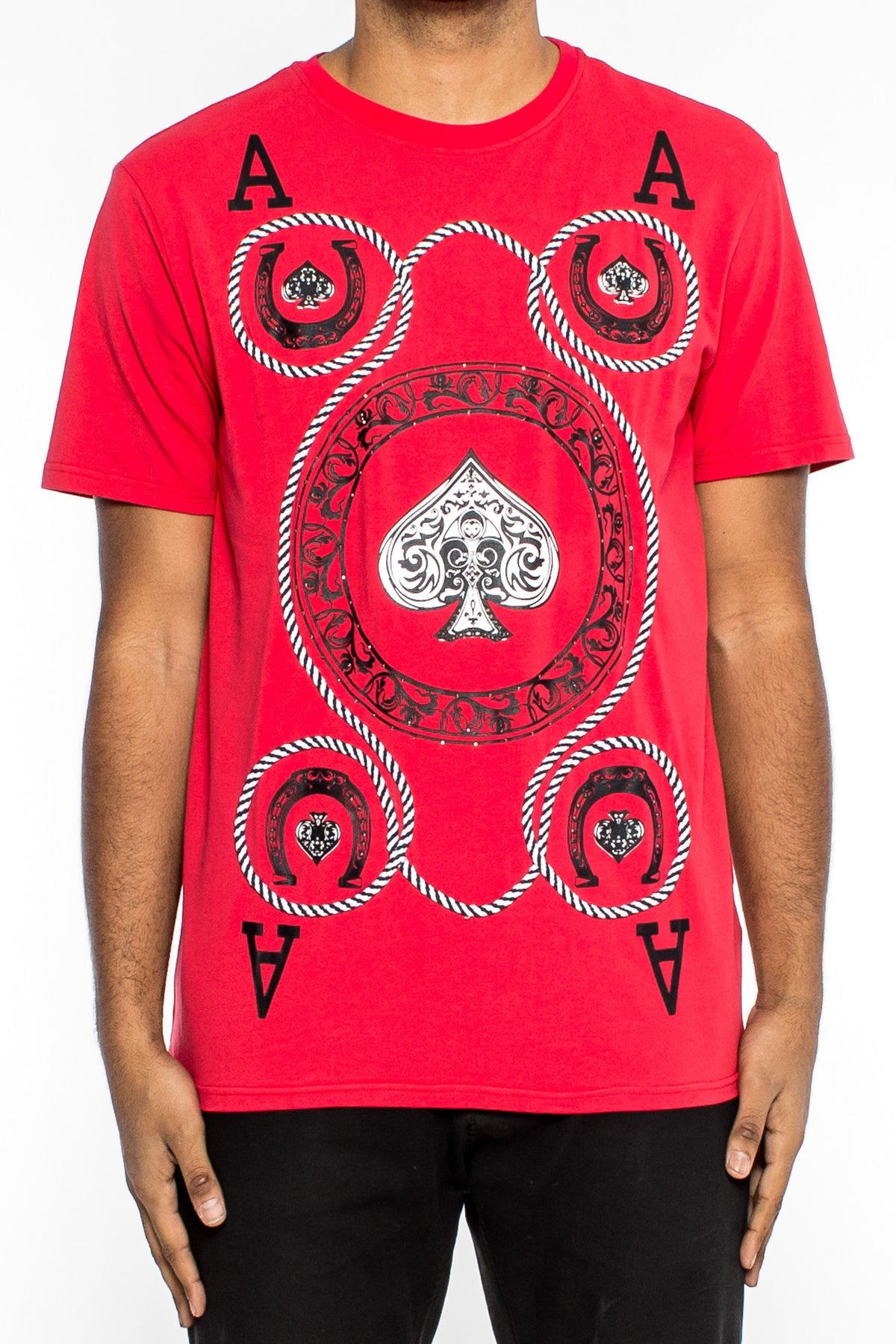 Aces Of Spades Tee (H1051443) RED - cosign1975