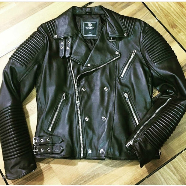 HUDSON LEATHER BLACK BIKER - cosign1975