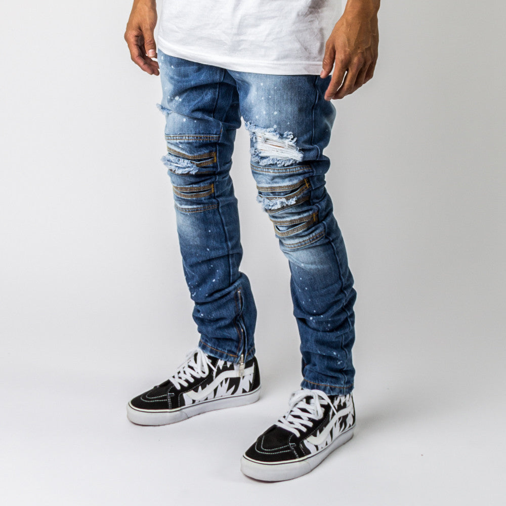 RIPPED DENIM AFPABUBLUE DENIM - cosign1975